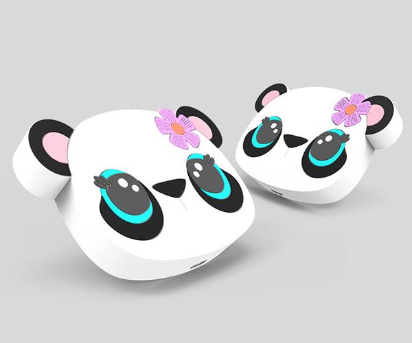 熊猫形状无线充电器pvc无线充电器开模定制