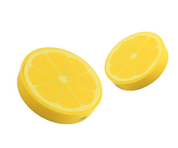 柠檬形状无线充电器pvc无线充电器开模定制