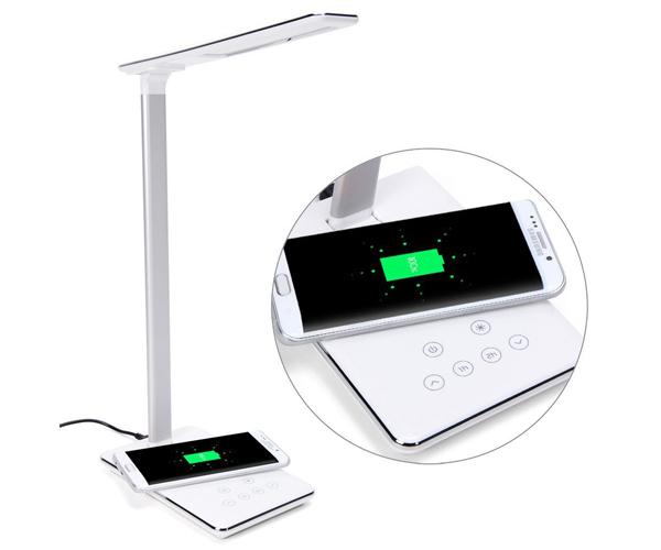 二合一台灯无线充电器多功能台灯无线充