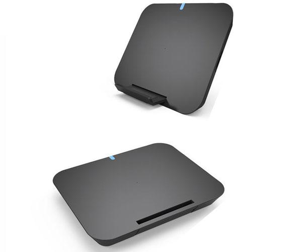 方形立式平放两用无线充电器立式手机支架无线充
