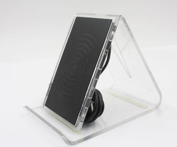 水晶底座立式无线充电器3线圈无线充电器