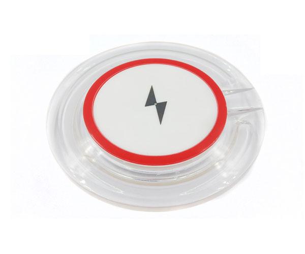 Q3圆形水晶无线充电器亚克力无线充电器