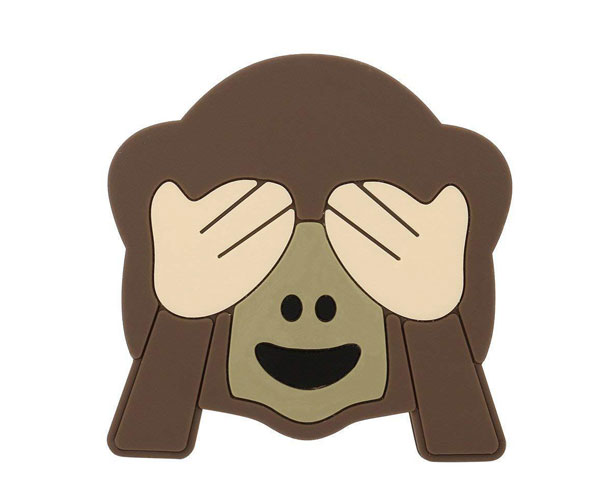 PVC动物造型无线充捂脸猴无线充pvc软胶无线充开模定制
