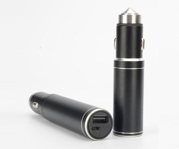 带电池单口车载充电器点烟器插头车充单USB接口车载充电器
