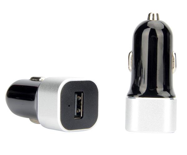 铝合金框架单口车载充电器单USB接口车载充电器