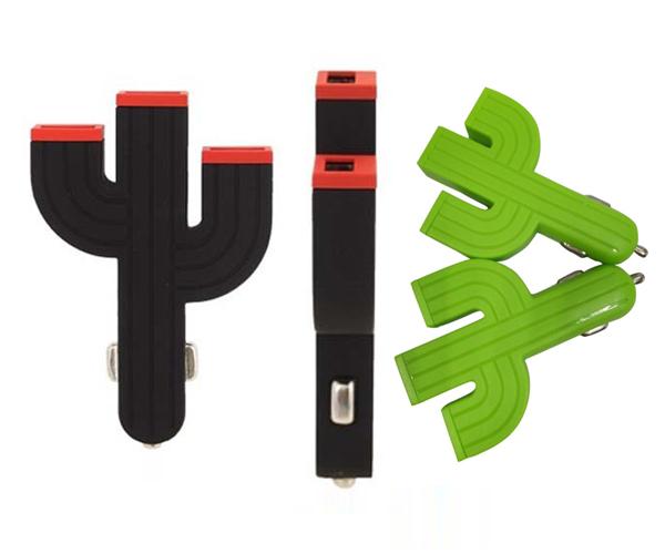 仙人掌车充mini仙人掌车充3个USB发光