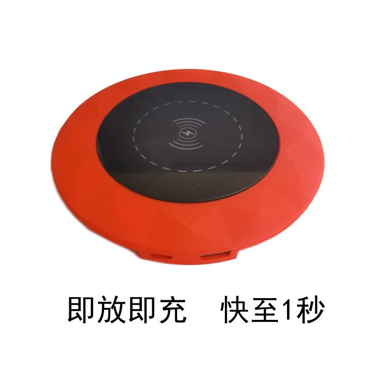 圆形10W塑料无线充电器桌面无线快充LOGO定制