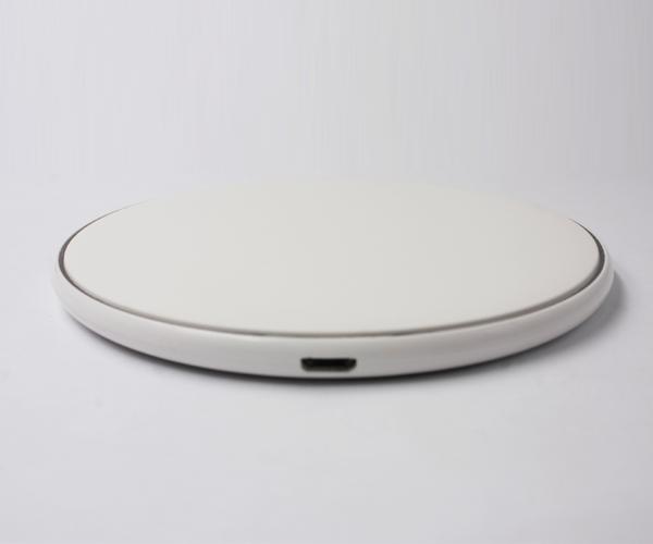 ABS圆形无线充电器圆弧边圆脚垫圆形无线充
